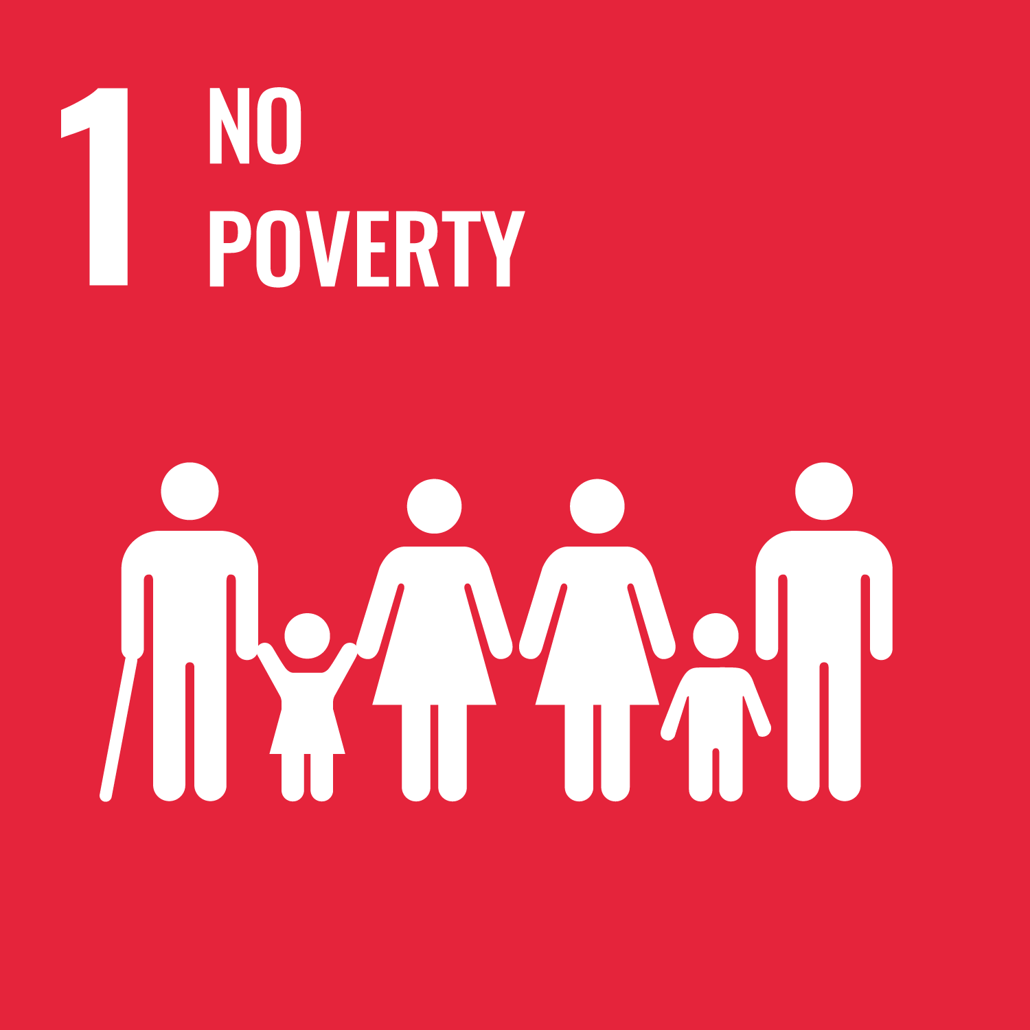 Goal number 1 of the SDGs: No Poverty
