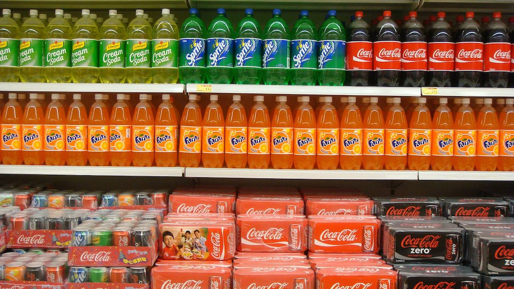 Soft drinks have a surprisingly high amount of sugar.