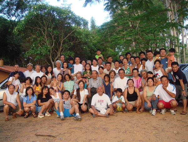 New year's family reunion of  the Kodama family in Brazil.